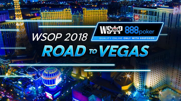 Онлайн отбор на WSOP 2018 в акции Road to Vegas на 888 Покер